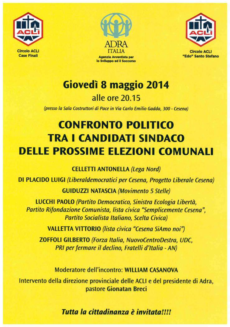 incontro politico 8 maggio 2014